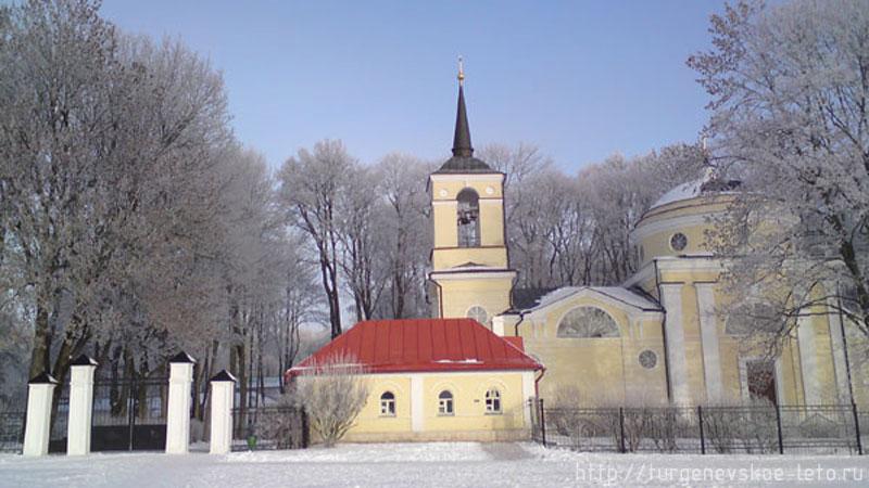 Спасское-Лутавиново. Храм. Новый год 2008-09 год.