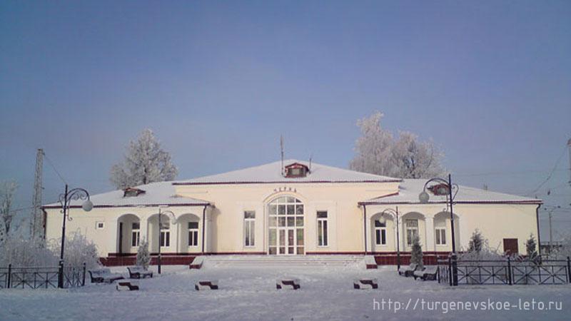 Ж/д Станция Чернь. Московской железной дороги. Чернь. Новый год 2008-09 год.