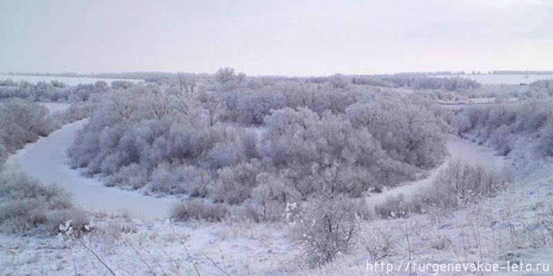 """Русло реки Снежедь образовала """"подкову"""", где и находилось имение Дельвига"""