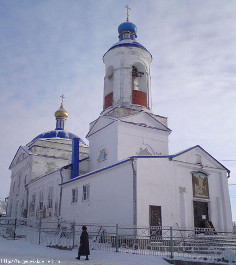 Храм. пос. Чернь. Новый год 2008-09 год.
