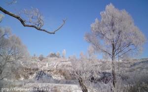 Отдых в деревне   экотуризм   Бежин луг в снегу
