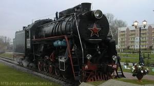 Действующий паровоз на станции Скуратово Московской железной дороги