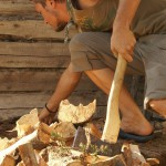 отдых в деревне, экотуризм, деревня Бежин Луг, заготовка дров для бани, фототур по Тургеневским местам