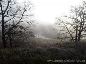 отдых в деревне, осень, бежин луг, утренний иней